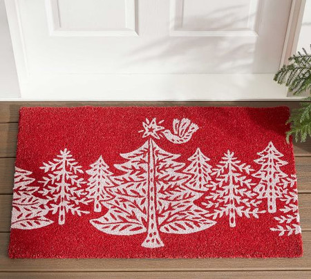 Christmas Tree Forest Doormat