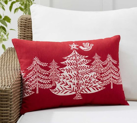 Christmas Tree Forest Indoor/Outdoor Lumbar Pillow