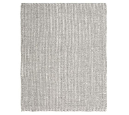 Chunky Wool and Jute Rug - Gray/Ivory