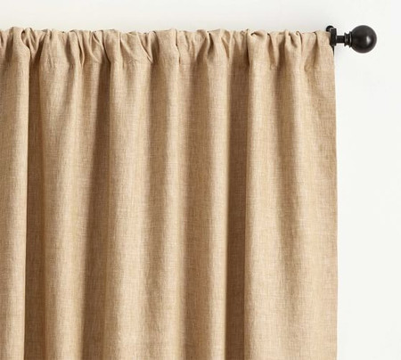Classic Belgian Flax Linen Blackout Curtain - Wheat
