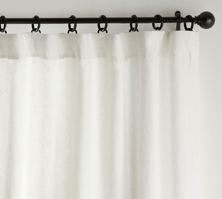 Classic Belgian Flax Linen Curtain - Classic Ivory