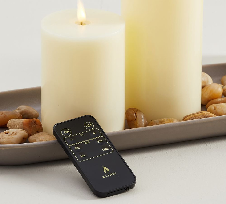 Classic Flickering Flameless Candle Remote Control