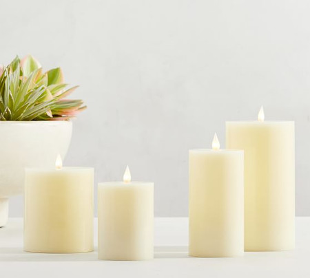 Classic Flickering Flameless Wax Pillar Candle