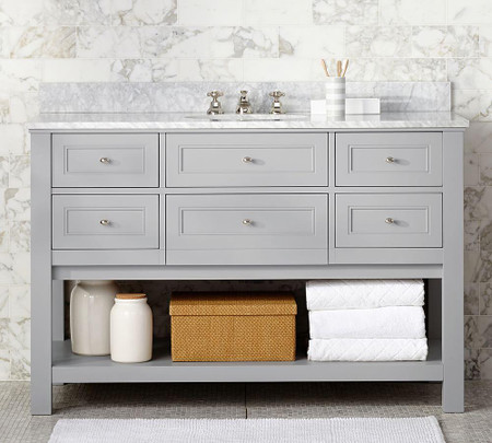 Classic Single Wide Sink Console - Gray