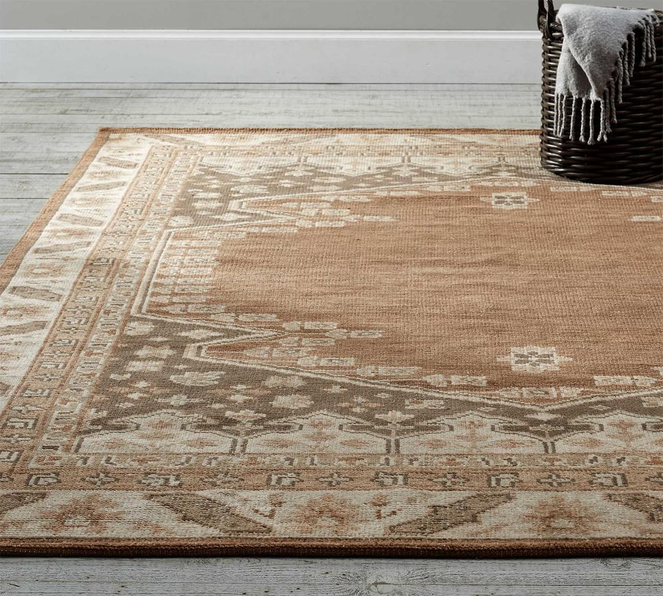 Cleo Hand Knotted Rug Neutral Multi Pottery Barn Canada