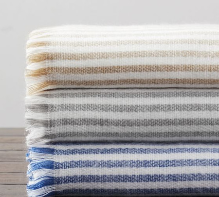 Clover Striped Throw