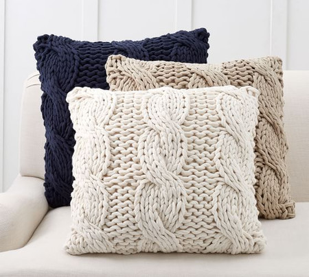 Colossal Handknit Pillow Covers