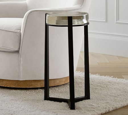 Cori Glass Round Accent Table