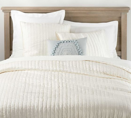 Cotton Silk Quilt & Shams - Clasic Ivory