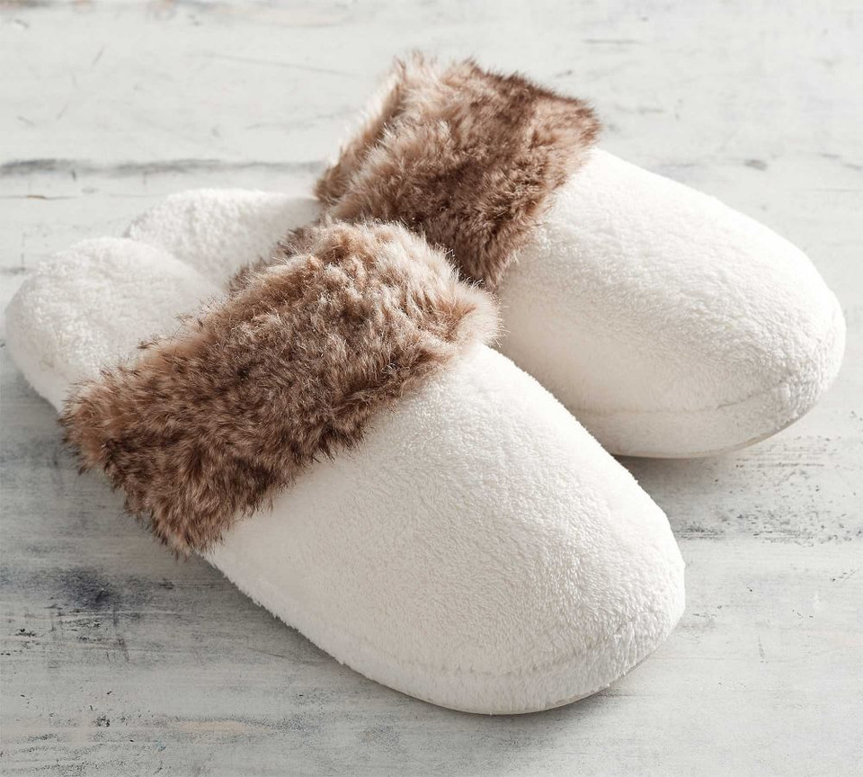Faux Fur Slippers Pottery Barn Canada
