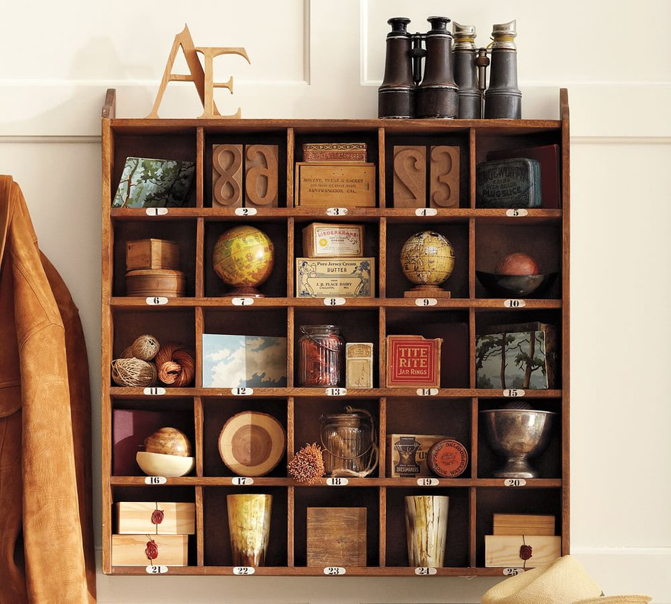 Handcrafted Wooden Cubby Display