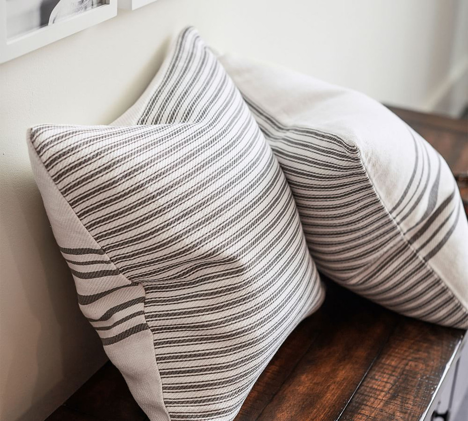 Culver Grainsack Striped Reversible Pillow Covers