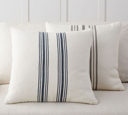Culver Reversible Striped Grainsack Pillow Cover