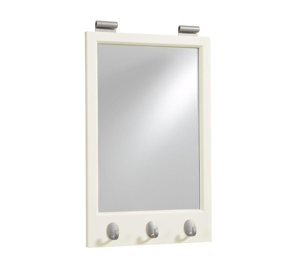 Daily System Framed Mirror With Hooks Pottery Barn Canada