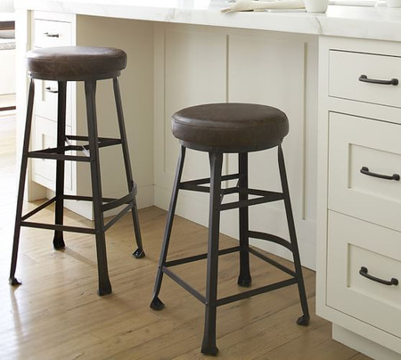 Decker Leather Seat Bar & Counter Stool