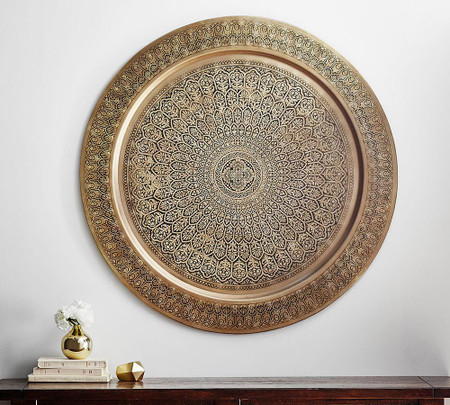 Decorative Metal Disc - Brass