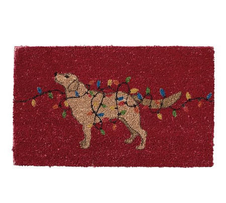Dog with Lights Doormat