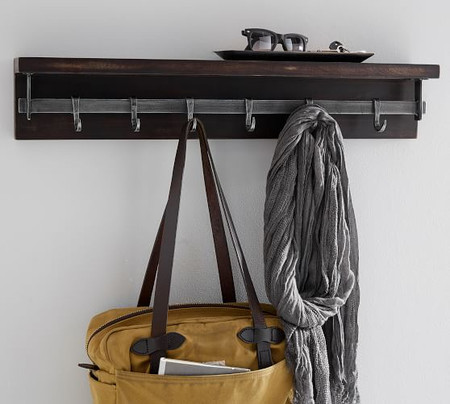 Duncan Bronze Shelf With Hooks