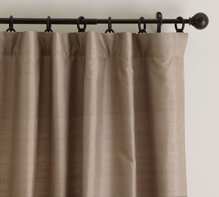 Dupioni Silk Pole-Pocket Curtain