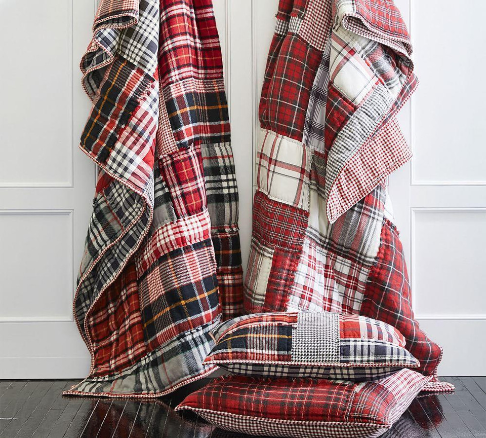 Easton Plaid Patchwork Cotton Quilt Amp Shams Pottery Barn