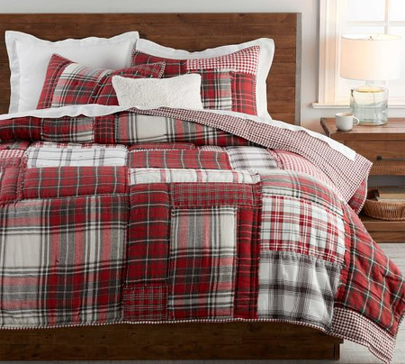 Easton Plaid Patchwork Cotton Quilt & Shams