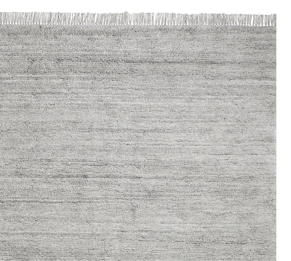 Easy Care Solid Shag Recycled Material Rug Gray Multi