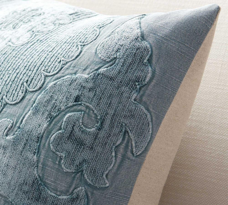 Elmira Embroidered Pillow Cover Pottery Barn Canada