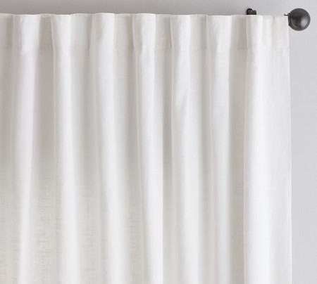 Emery Linen/Cotton Pole-Pocket Curtain