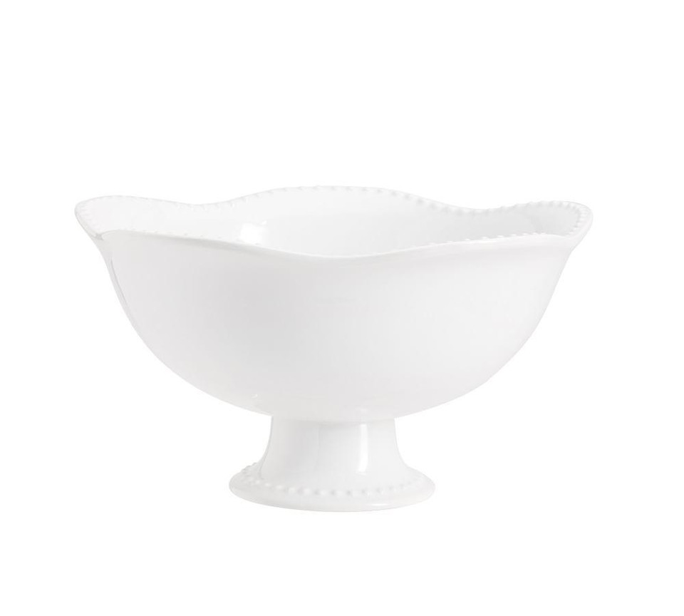 Emma Beaded Footed Serving Bowl