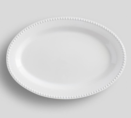 Emma Oval Serve Platter - True White