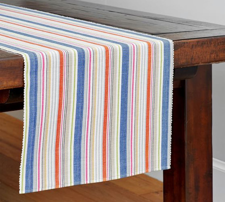 Espadrille Striped Table Runner