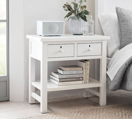 "Farmhouse 28.5"" 2-Drawer Nightstand"