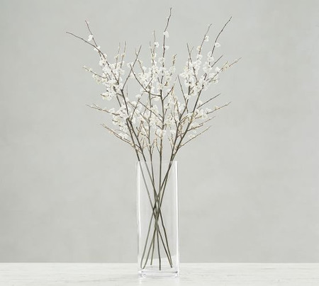 Faux Berry Branches - White - Set Of 3