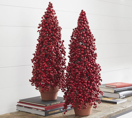 Faux Cluster Berry Cone Tree