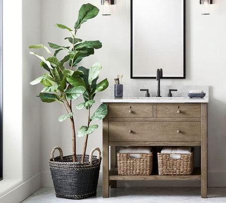 Faux Potted Fiddle Leaf Fig Trees