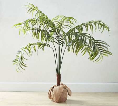 Faux Potted Palm Tree