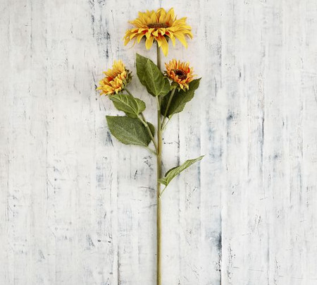 Faux Sunflower Branch