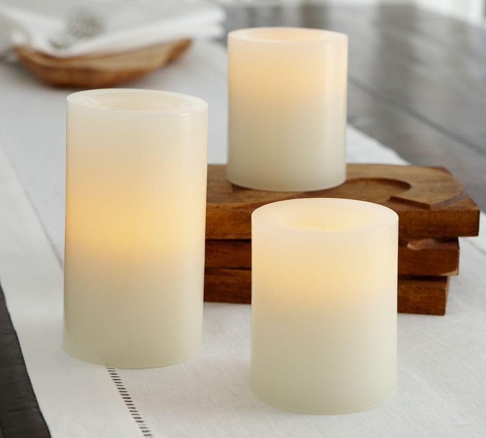 Flameless Wax Candle – Ivory