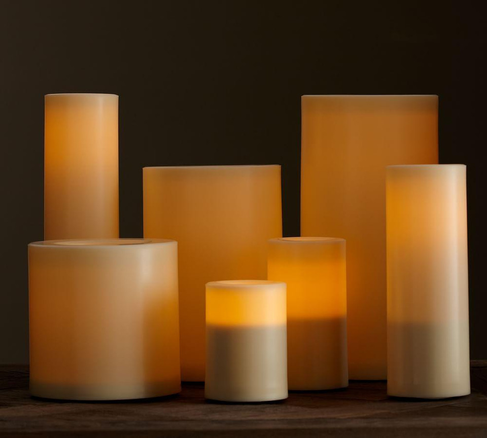 Flameless Outdoor Candle – Ivory