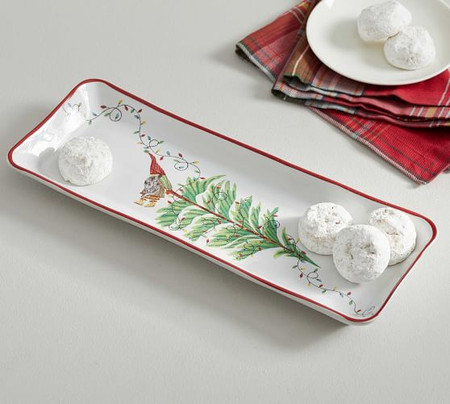 Forest Gnome Stoneware Cookie Serving Platter