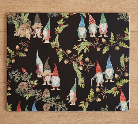 Forest Gnome Cork Placemats - Set of 4