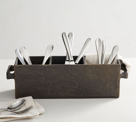 Forged Metal Flatware Caddy