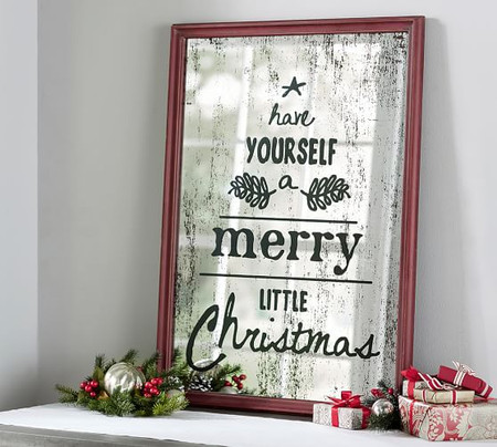 Mirrored Merry Little Christmas Wall Art