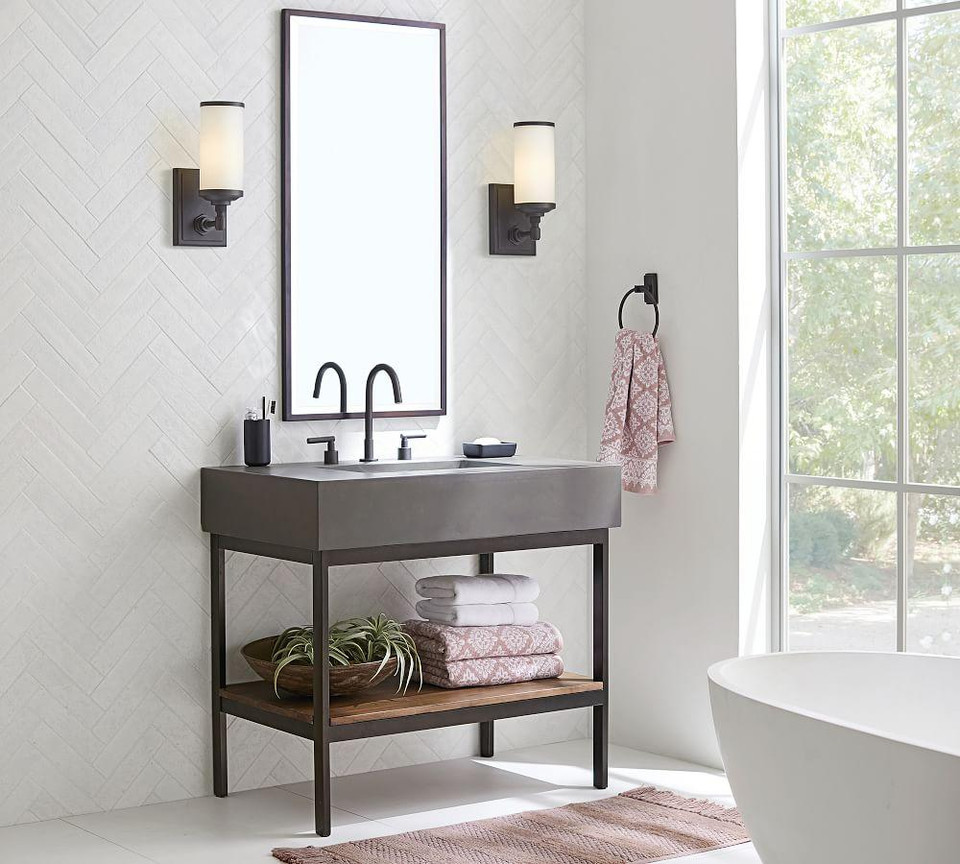 Frances Single Sink Vanity 36 Quot Pottery Barn Canada