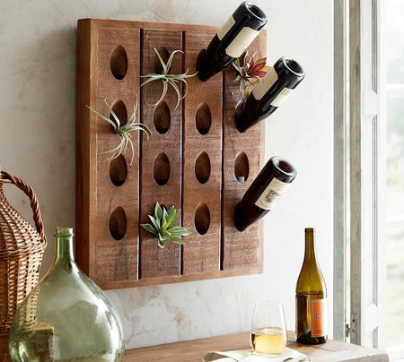 French Wine Bottle Wall Rack