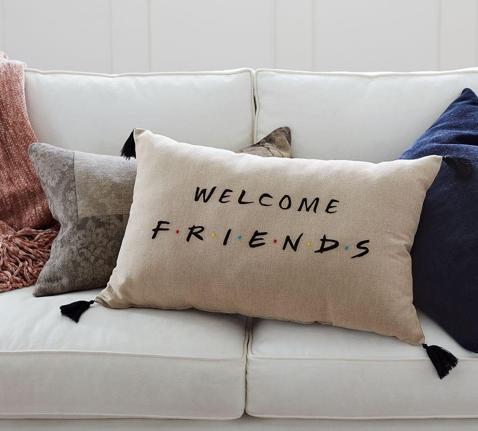 Friends Welcome Filled Pillow Pottery Barn Canada