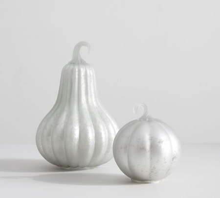 Frosted Mercury Glass Pumpkins