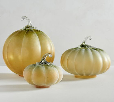 Frosted Ombre Glass Pumpkin Cloche