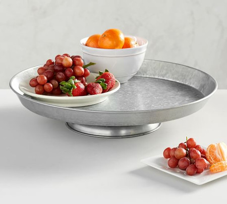 Galvanized Metal Lazy Susan