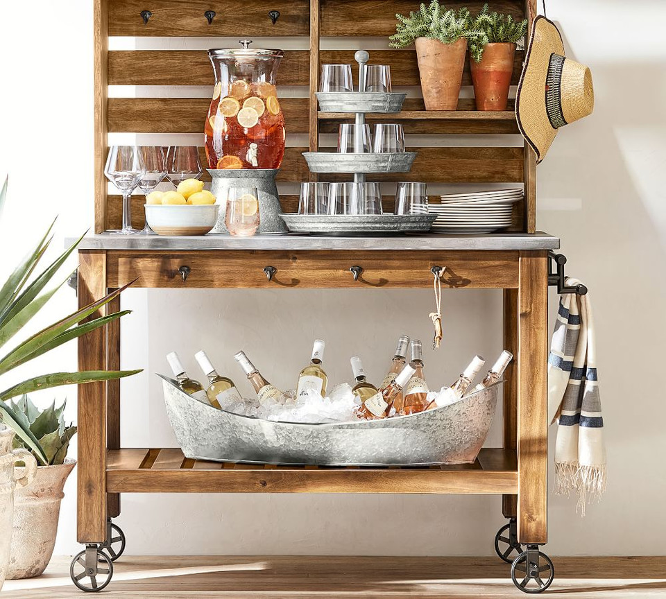 Galvanized Metal Three Tiered Stand